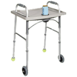Drive Universal Walker Tray With Cup Holder,Grey,Each,10124
