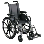 Drive Viper Deluxe High Strength Lightweight Dual Axle Wheelchair,18″ Viper, Flip Back Full Arms, Swing-Away Footrests,Each,L418DFA-SF