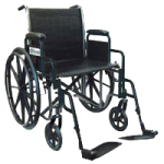 Drive Sport 2 Dual Axle Standard Wheelchair,16″, Detachable Full Arm, Swing-Away Footrests,Each,SSP216DFA-SF