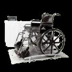 Health O Meter Digital Wheelchair Dual Ramp Scale,31.5″W x 31.5″D x 2″H (800mm x 800mm x 51mm),Each,2650KL