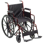 Drive Rebel Lightweight Folding Transportable Wheelchair,Transport Chair,Each,RTLREB18DDA-SF
