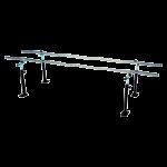 Armedica Floor Mounted Parallel Bar,10ft Floor Mount,Each,AM-712