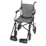 Mabis DMI Folding Transport Chair with Carrying Tote,Black,Each,501-1058-0200