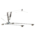Hoyer Classics Hydraulic Chrome Manual Patient Lift,With C-Base,Each,C-CB-L2