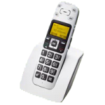 Clearsounds A400 DECT 6.0 Amplified Cordless Phone with Extension Handset Bundle,White,Each,CS-A400BUN