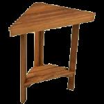 Teakworks4u Mini Corner Shower Bench with Shelf,Burmese Teak,Each,TBC-1712S
