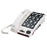 Serene Innovations Jumbo Key Corded Amplified Telephone,8.2″ x 2.0″ x 1.9″,Each,HD-50JV