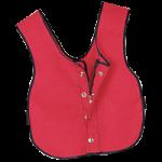 Multi Task Dressing Vest,Child, 14″W x 17-1/2″L (36cm x 44cm), Red,Each,929000