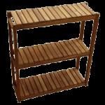 Teakworks4u Three Tiered Shelf,24″L x 8″D x 26″H, Burmese Teak,Each,T3S-24278