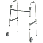 Invacare Dual Release Paddle Walker with Wheels,Adult with 5″ Wheels,Each,6291-5F