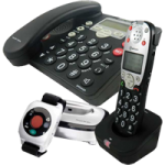 Amplicom USA PowerTel 785 Responder Amplified DECT Corded Phone,With Answering machine, Accessory handset and Wrist shaker,Each,95545