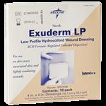Medline Exuderm LP Thin Hydrocolloid Dressing,4″ X 4″ (10.2cm x 10.2cm),2/Pack,MSC5100H
