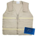Polar Kool Max Body Cooling Zipper Vest,Each,KMVZ