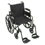 Viper Plus GT-Deluxe High Strength Lightweight 2 Axle Wheelchair with Seat Extension,16″ Flip Back,Adj Height Full Arm,PLA416FBFAARAD-ELR