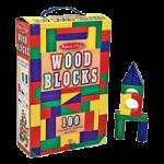 Melissa & Doug 100 Wood Block Set,13.5″ x 3.5″ x 9″,Each,481