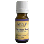 Amrita Aromatherapy Pure Therapeutic Geranium Rose Essential Oil,60ml, Bottle,Each,EO3603