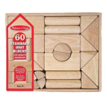 Melissa & Doug Unit Block Set,Architectural With 44 Blocks, 4.5″ x 15″ x 12″,Each,4201