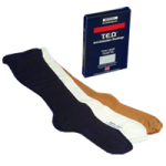 Covidien Kendall Knee Length TED Anti-Embolism Stockings For Continuing Care,Small/Long, Black,Pair,4572