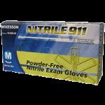 McKesson Nitrile 911 Powder Free Textured Fingertips Exam Gloves,Small,100/Pack, 5Pk/Case,14-060-S