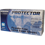 McKesson Protector Powder Free Latex Textured Fingertips Exam Gloves,Small,100/Pack, 10Pk/Case,14-010-S
