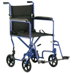 Invacare ProBasics 17 Inches Aluminum Transport Chair,Blue,Each,9200BL