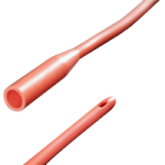 PECO Male Straight Tip Red Rubber Intermittent Catheter,14Fr,Each,PU7714