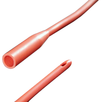 2610201533PECO_Male_Straight_Tip_Red_Rubber_Intermittent_Catheter