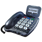 Geemarc Amplified Big Button Telephone And Answering Machine,Amplified Phone,Each,CL455