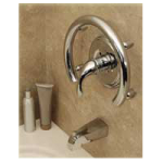 HealthCraft Invisia Accent Ring With Integrated Support Rail,Polished Chrome,Each,INV-ACR-CP