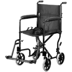 Invacare ProBasics 19 Inches Lightweight Aluminum Transport Wheelchair,Black,Each,9201BK