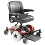 Invacare Pronto M41 Wheelchair with Fold Down Seat,Red,Each,M41FDR