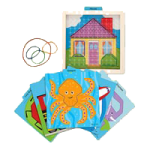 Melissa & Doug Stretch And Match Geoboard Toy,11″ x 11″ x 1″,Each,4373