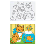 Melissa & Doug Kitten Canvas Creations,10″ x 8″ x 1″,Each,4918