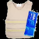 Polar Kool Max Cool Industrial Poncho Vest,Khaki,Each,PCV-KM