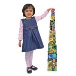 Melissa & Doug Alphabet Nesting And Stacking Blocks,5.75″ x 5.75″ x 5.75″,Each,2782