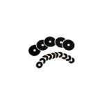 Perma-Type Company New Form Karaya Washers,Small, 2-1/2″ Diameter, 1-1/8″ Opening,10/Pack,G1500118