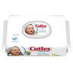 First Quality Cuties Wipes Quilted Soft Pack,Sensitive,72/Pack,CR-16413