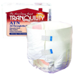 Tranquility ATN (All-Through-the-Night) Disposable Brief,X-Small,10/Pack, 10Pk/Case,2183