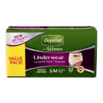 Depend Super Absorbency Women Underwear,X-Large,26/Pack, 2Pk/Case,13406