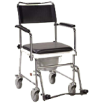Drive Folding, Portable Upholstered Wheeled Drop Arm Commode,Each,11120KD-1