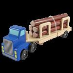 Melissa & Doug Log Carrier Wooden Toy Set,4.5″ x 13.75″ x 3.25″,Each,4099