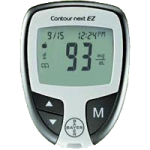 Bayer Contour Next EZ Meter Kit,3.03″H x 2.24″W x 0.74″T (77mm x 57mm x 19mm),Each,7252