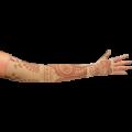 30320153019LympheDivas-Bodhi-Beige-Compression-Pattern-Arm-Sleeve-And-Gauntlet