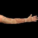 LympheDivas Bodhi Beige Compression Arm Sleeve And Gauntlet,Each,BODHI BEIGE