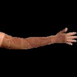 LympheDivas Bodhi Mocha Compression Arm Sleeve And Gauntlet,Each,BODHI MOCHA