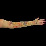LympheDivas Dahlia Compression Arm Sleeve And Gauntlet,Each,DAHLIA