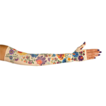 LympheDivas Flora Compression Arm Sleeve And Gauntlet,Each,FLORA