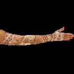 LympheDivas Daisy Dark Compression Arm Sleeve And Gauntlet,Each,DAISY DARK