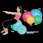 Ecowise Premium Fitness Ball,45cm,4'3″H to 4'6″H, Sunflower,Each,85500-Bulk