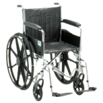 Nova Steel Wheelchair With Fixed Arms,Each,NOM5060S